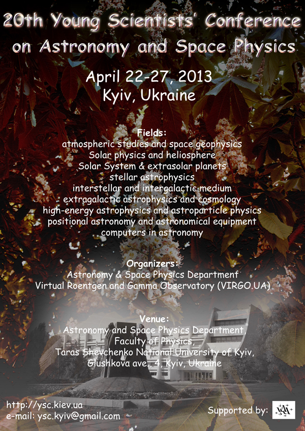 20° Young Scientists' Conference on Astronomy and Space ...