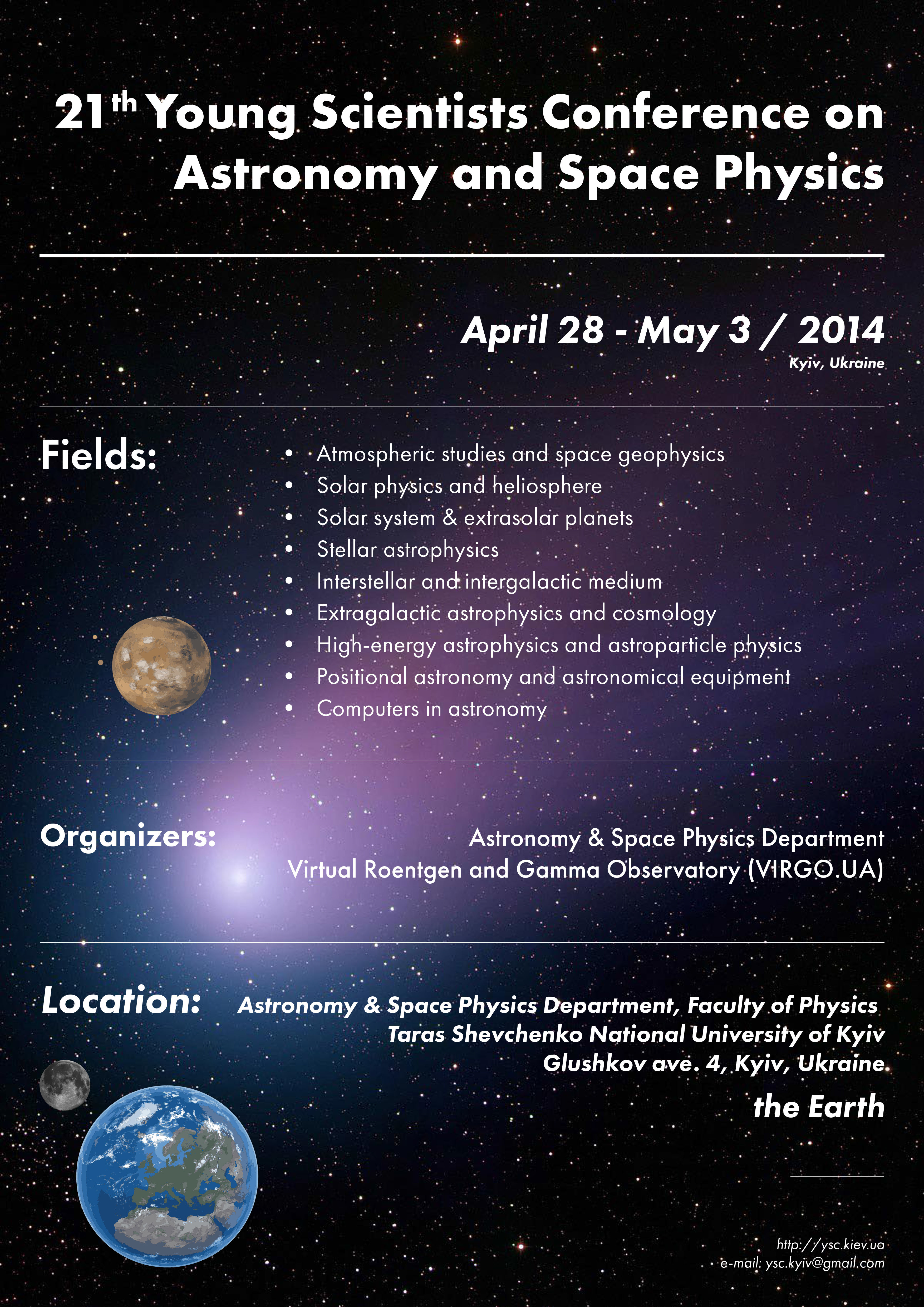 21° Young Scientists' Conference on Astronomy and Space ...